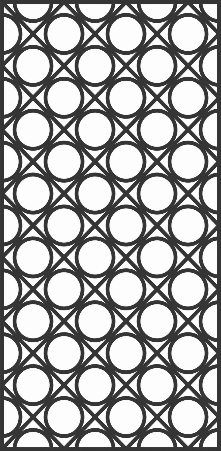 Screen Panel Patterns Seamless 26 Free DXF File