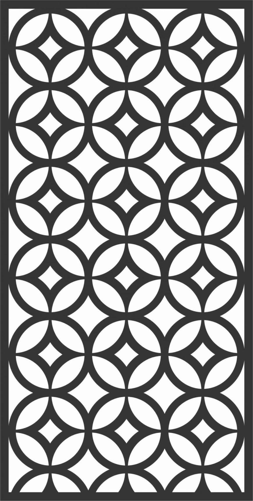 Screen Panel Patterns Seamless 28 Free DXF File