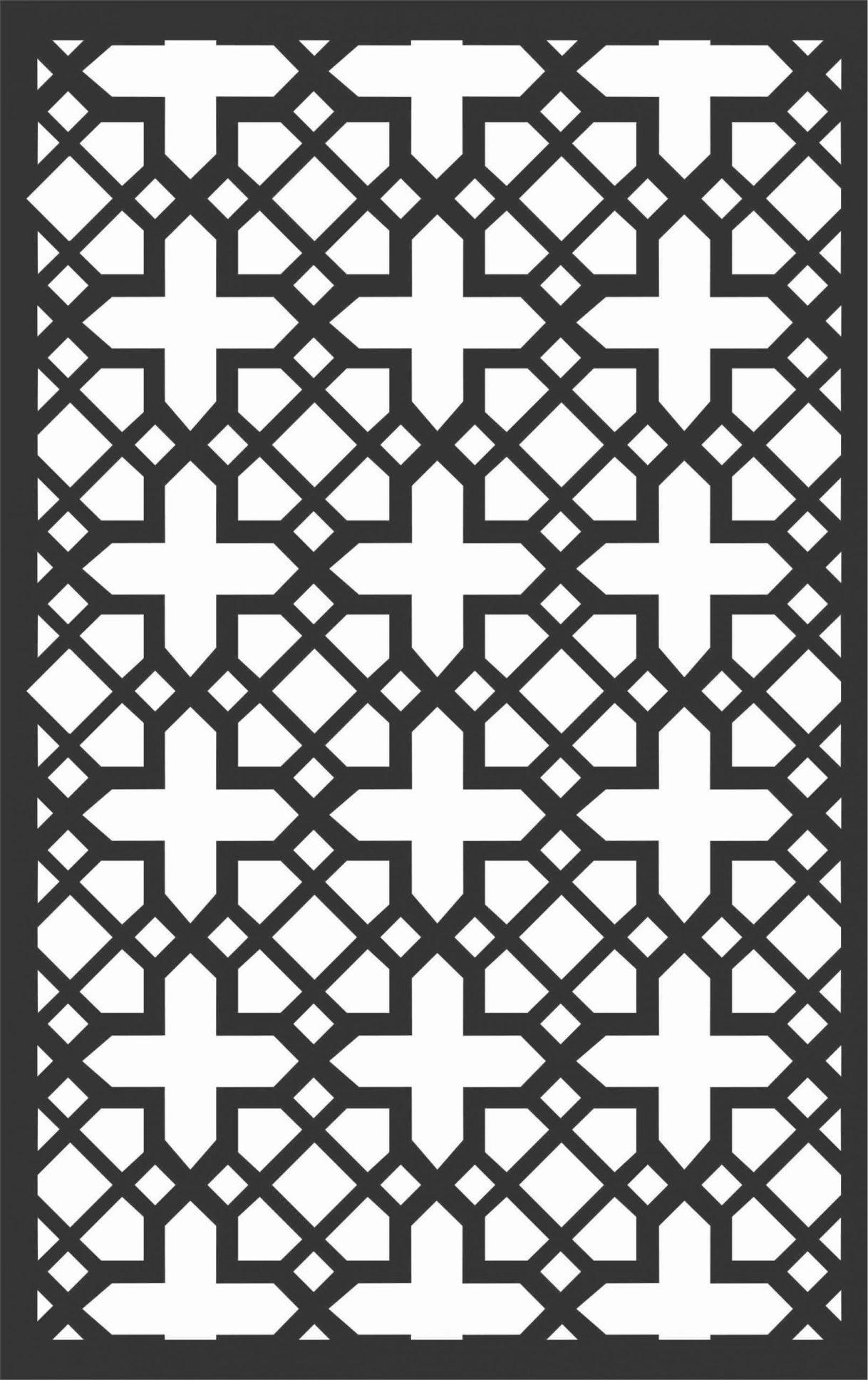 Screen Panel Patterns Seamless 31 Free DXF File