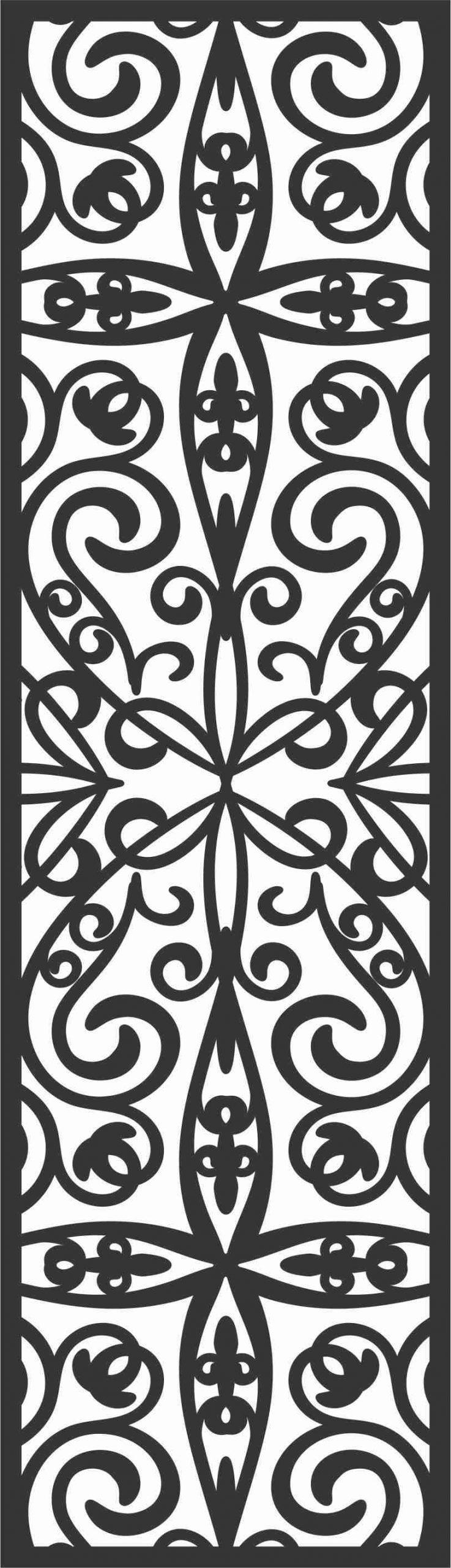 Screen Panel Patterns Seamless 34 Free DXF File
