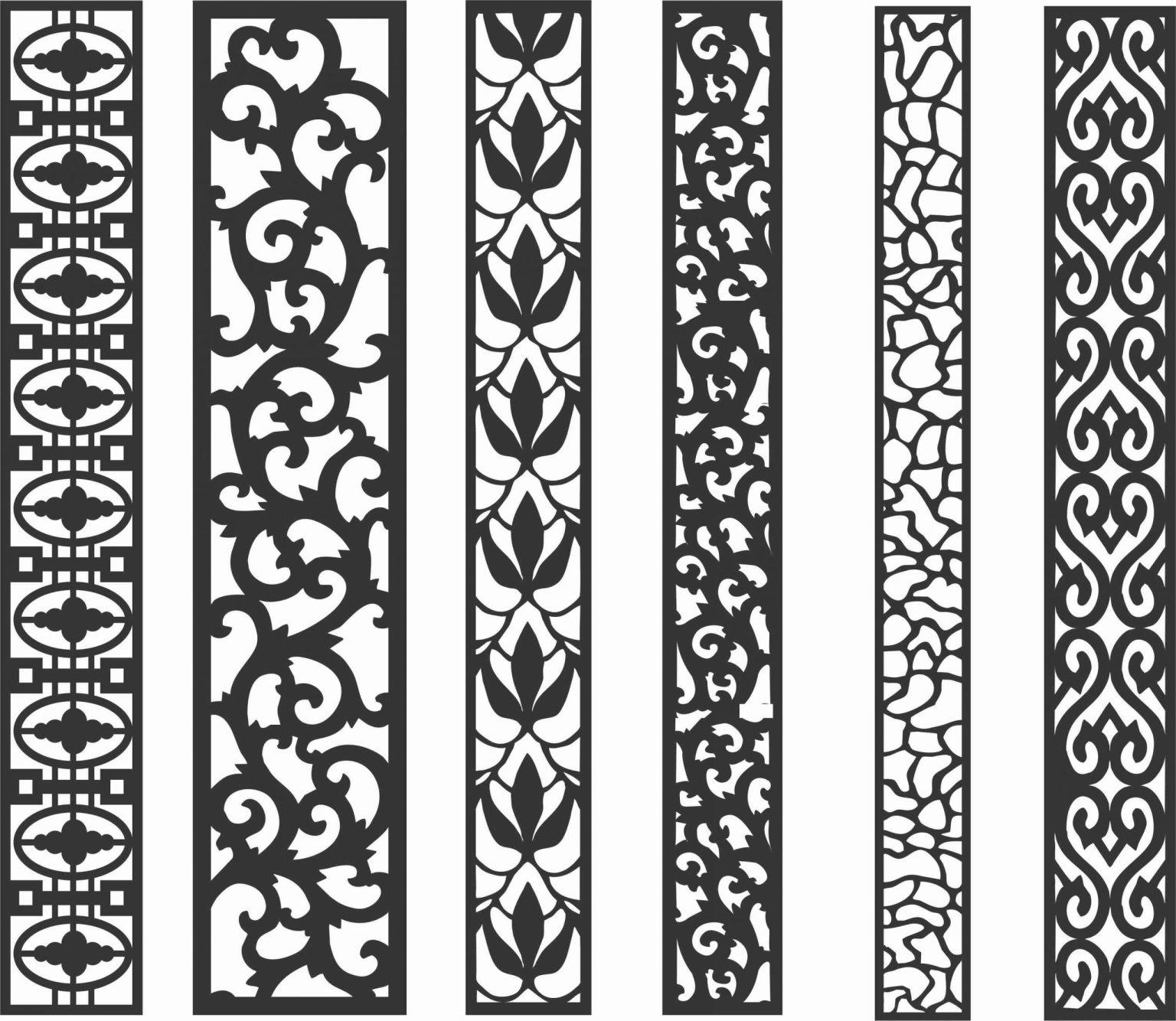 Screen Panel Patterns Seamless 38 Free DXF File