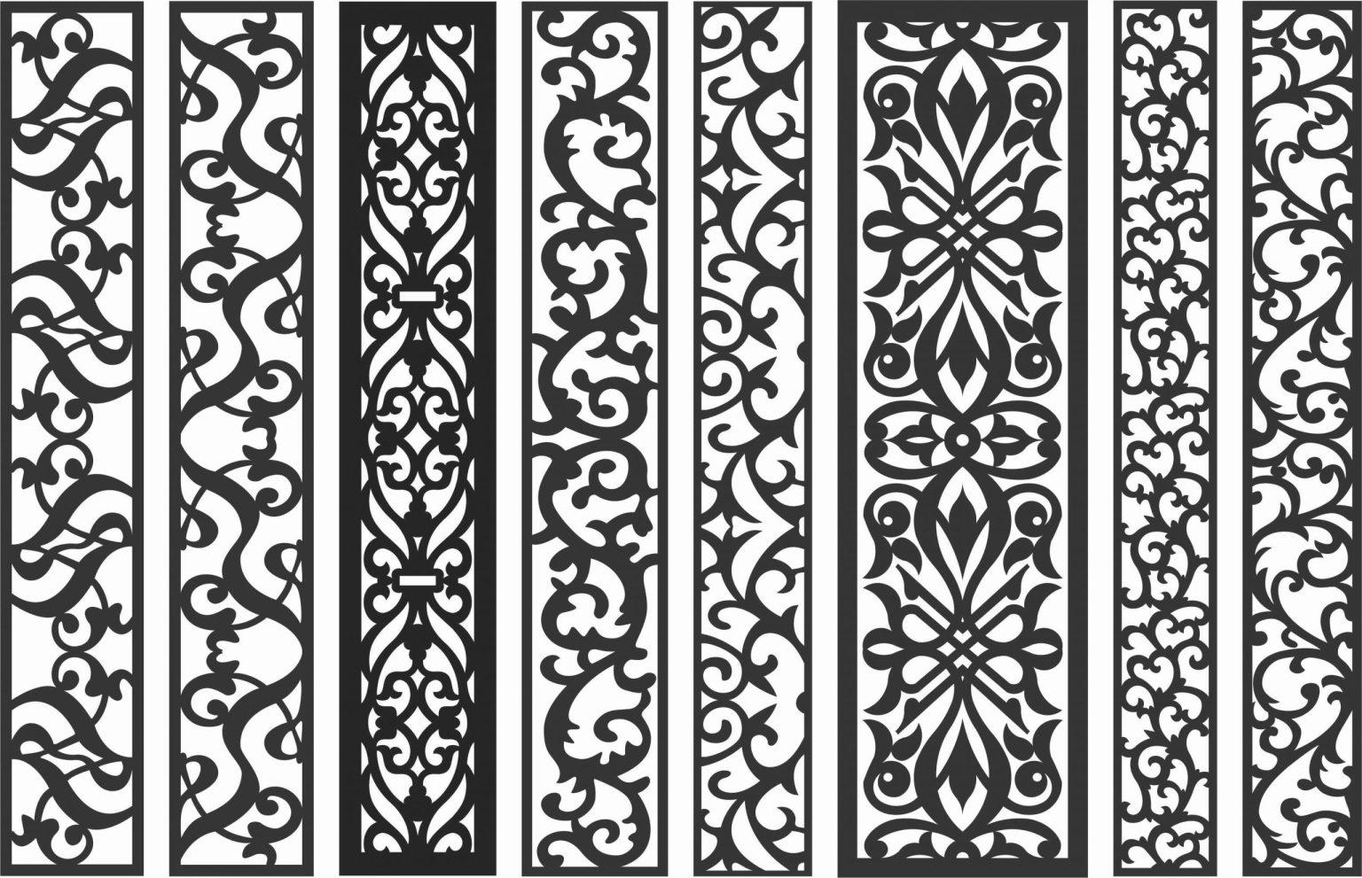 Screen Panel Patterns Seamless 40 Free DXF File
