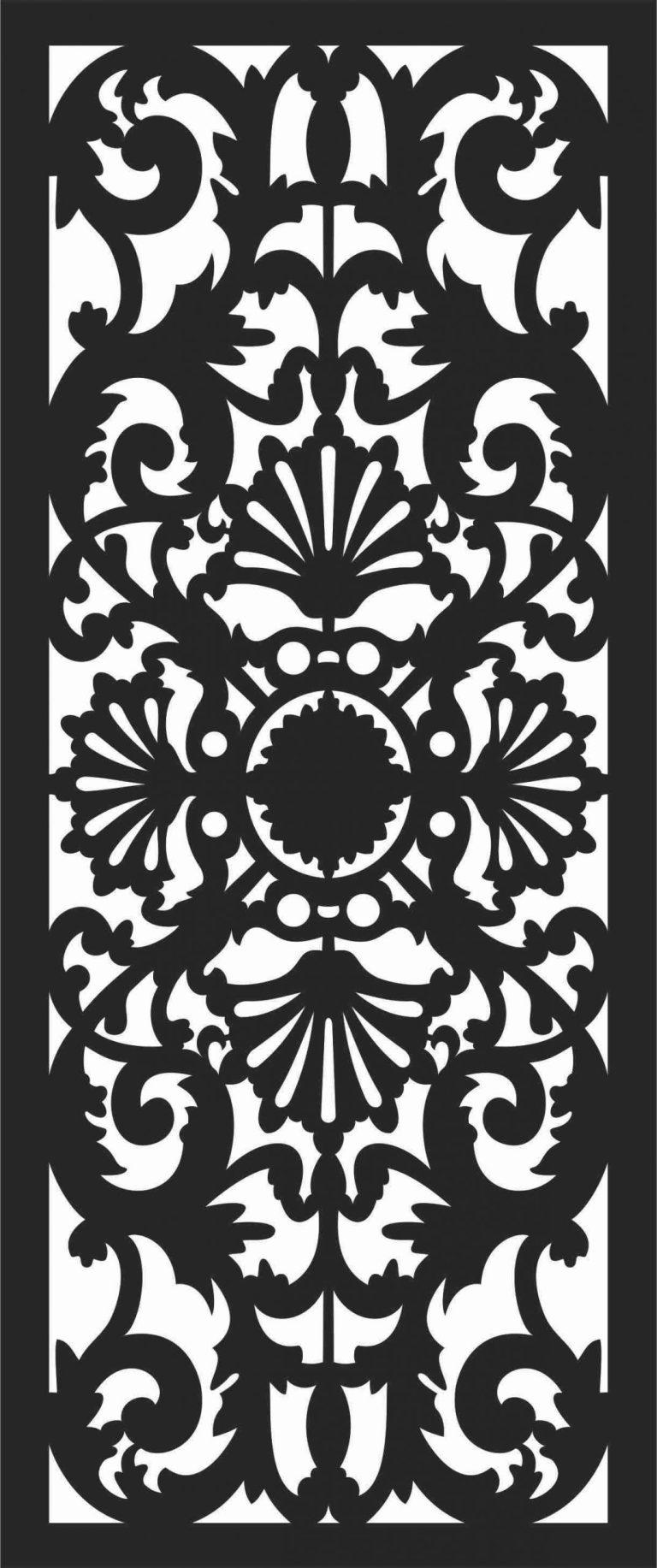 Screen Panel Patterns Seamless 41 Free DXF File