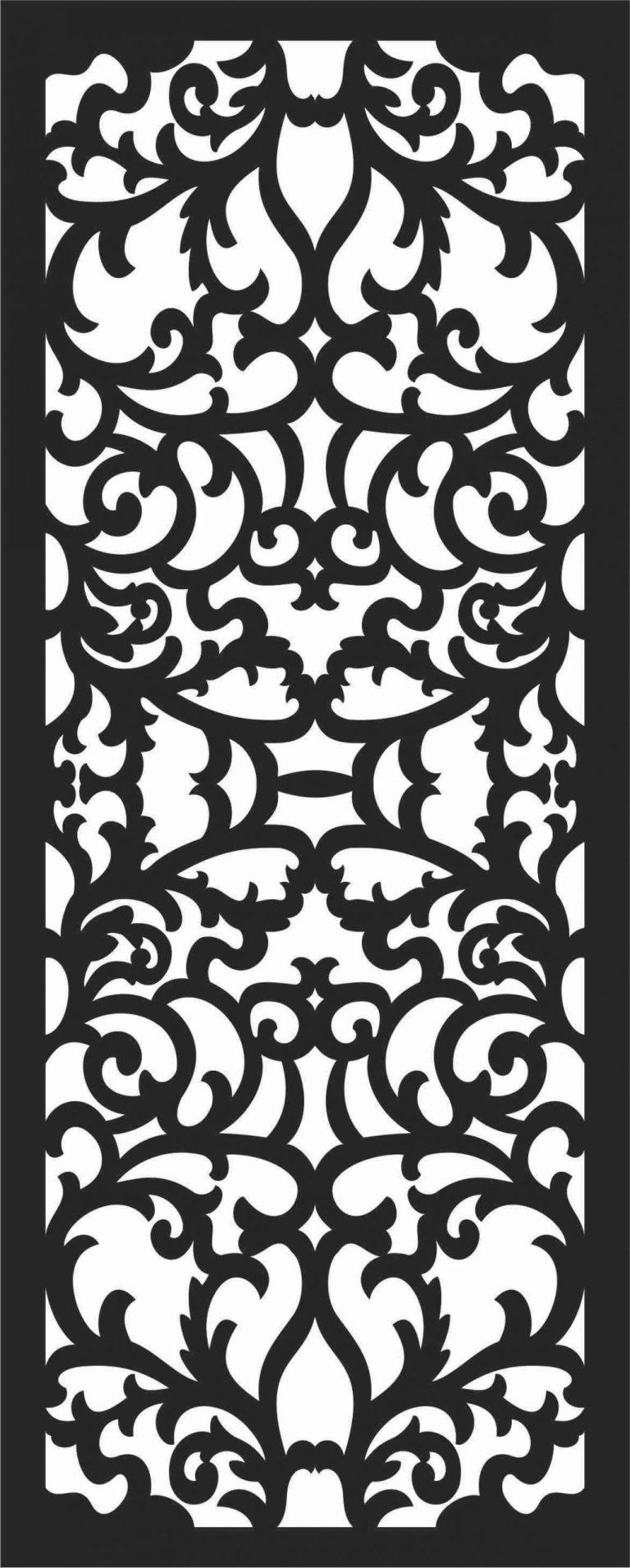 Screen Panel Patterns Seamless 42 Free DXF File