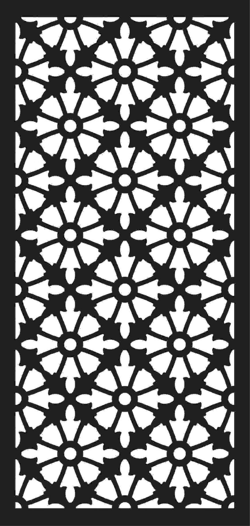 Screen Panel Patterns Seamless 51 Free DXF File