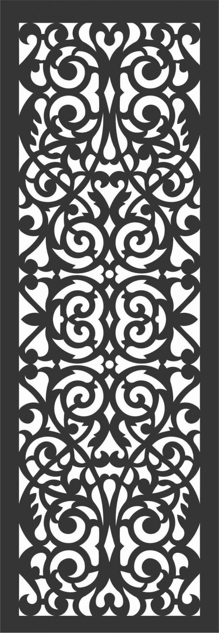 Screen Panel Patterns Seamless 52 Free DXF File