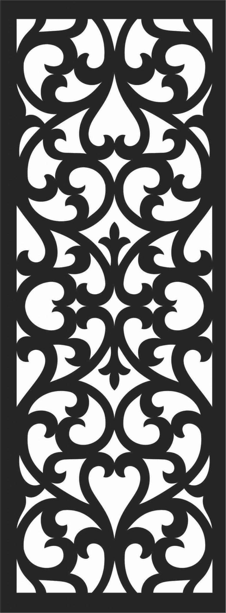 Screen Panel Patterns Seamless 53 Free DXF File