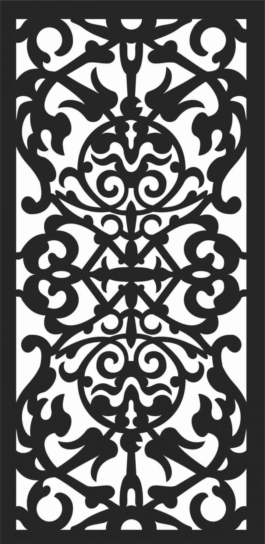 Screen Panel Patterns Seamless 55 Free DXF File