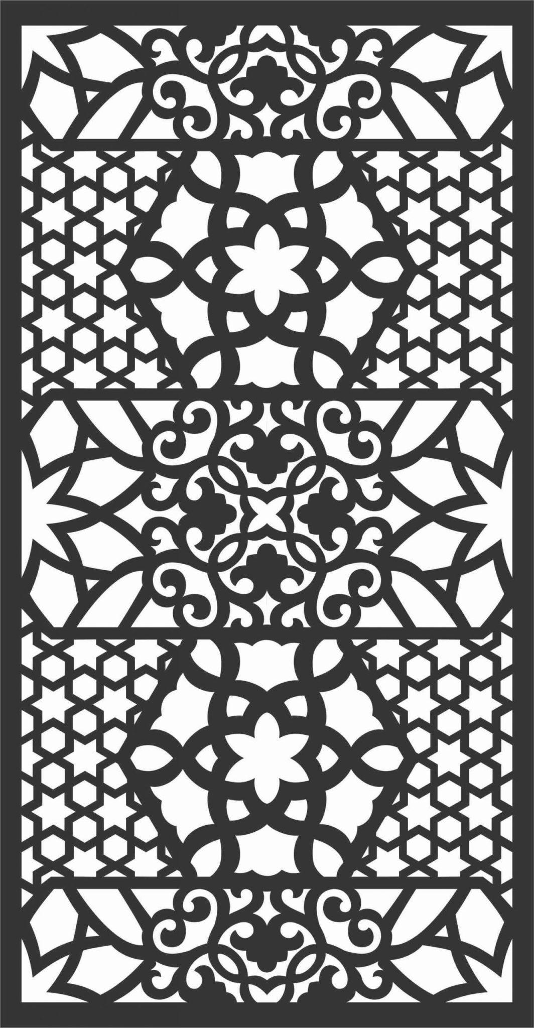 Screen Panel Patterns Seamless 56 Free DXF File