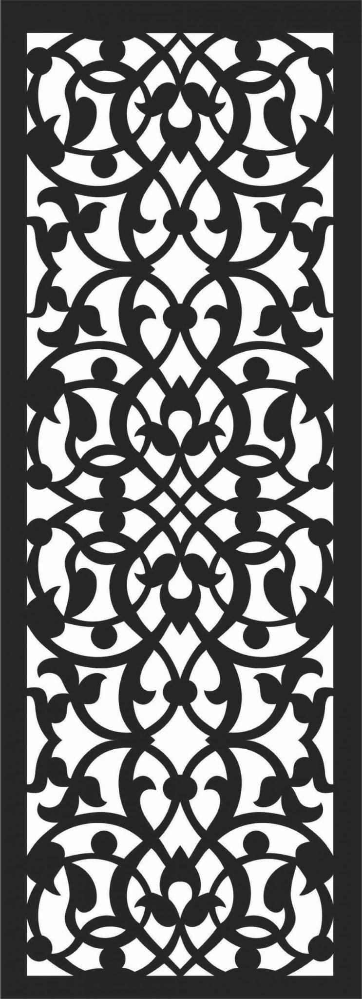 Screen Panel Patterns Seamless 58 Free DXF File