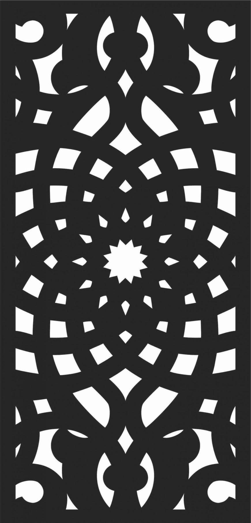 Screen Panel Patterns Seamless 62 Free DXF File
