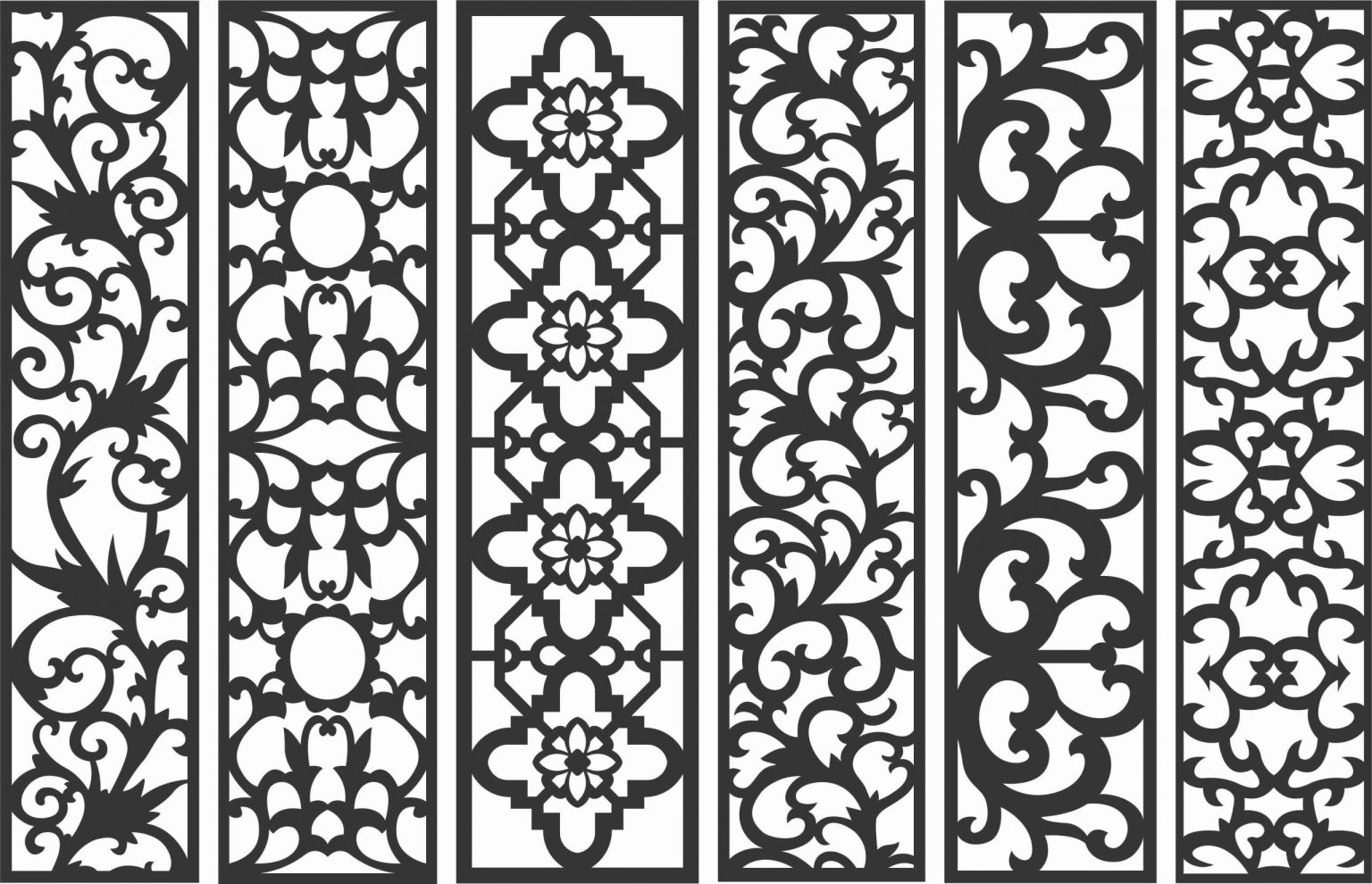 Screen Panel Patterns Seamless 65 Free DXF File