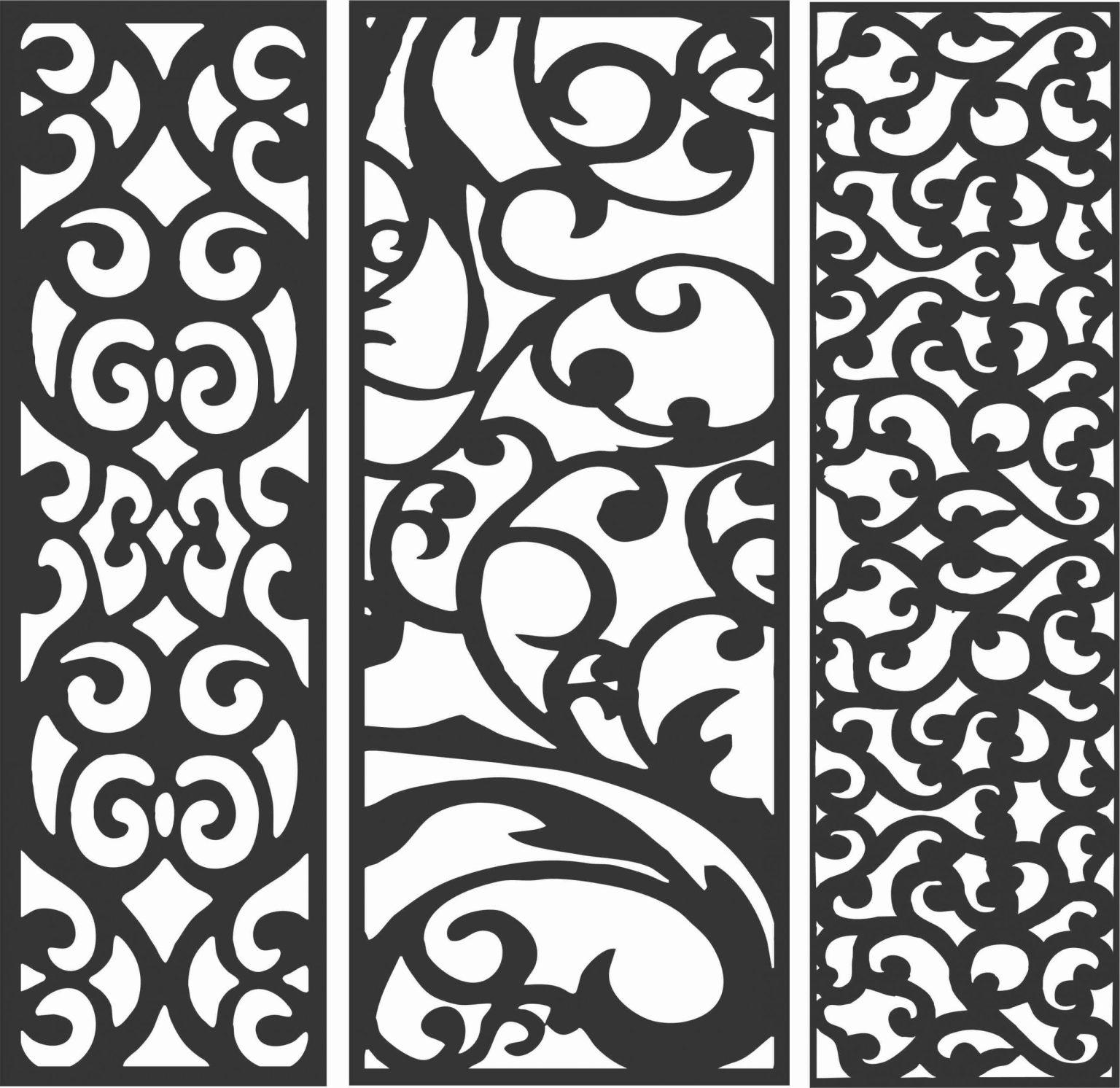 Screen Panel Patterns Seamless 68 Free DXF File