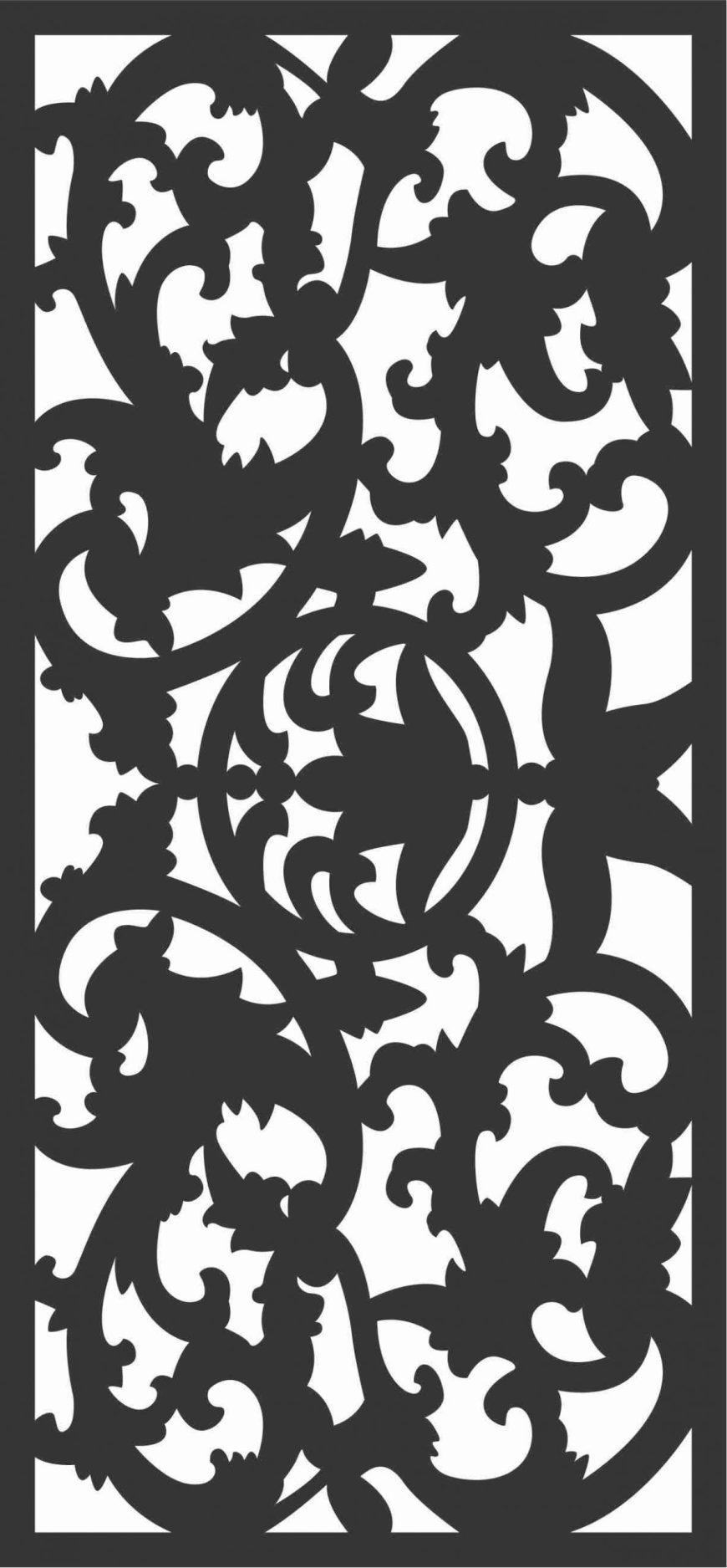 Screen Panel Patterns Seamless 71 Free DXF File