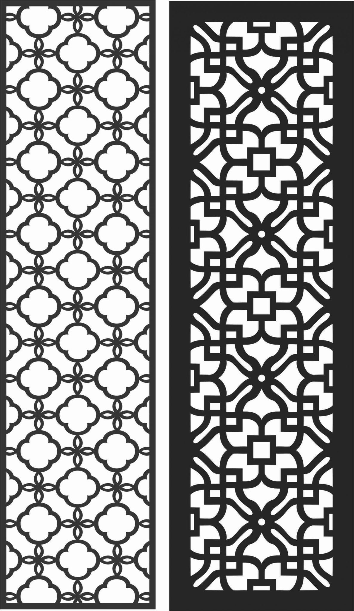 Screen Panel Patterns Seamless 79 Free DXF File