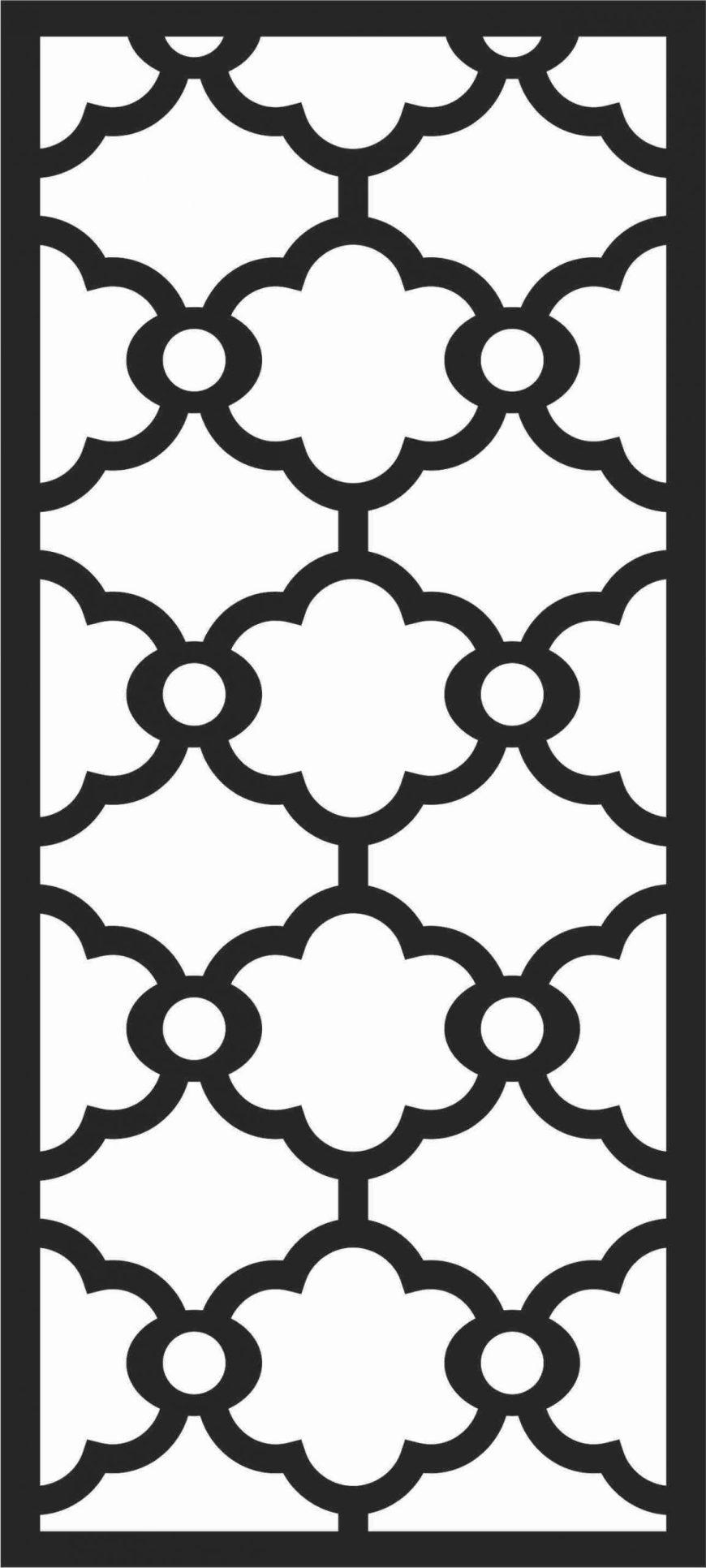 Screen Panel Patterns Seamless 81 Free DXF File