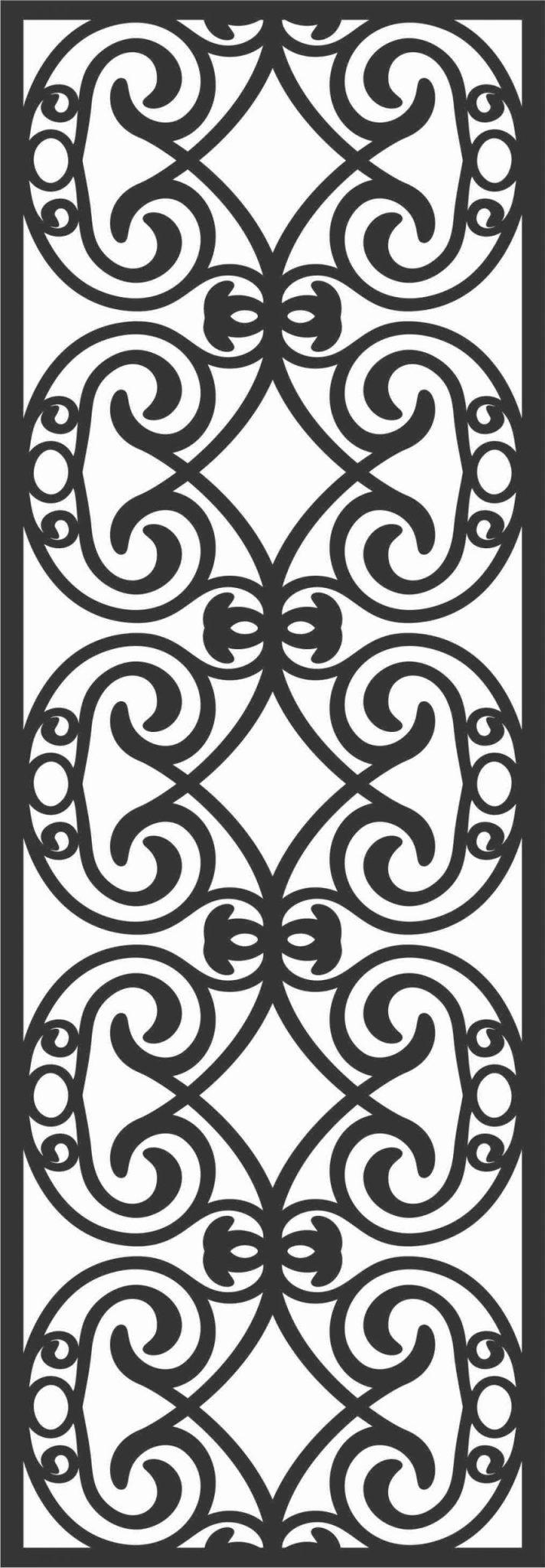 Screen Panel Patterns Seamless 93 Free DXF File