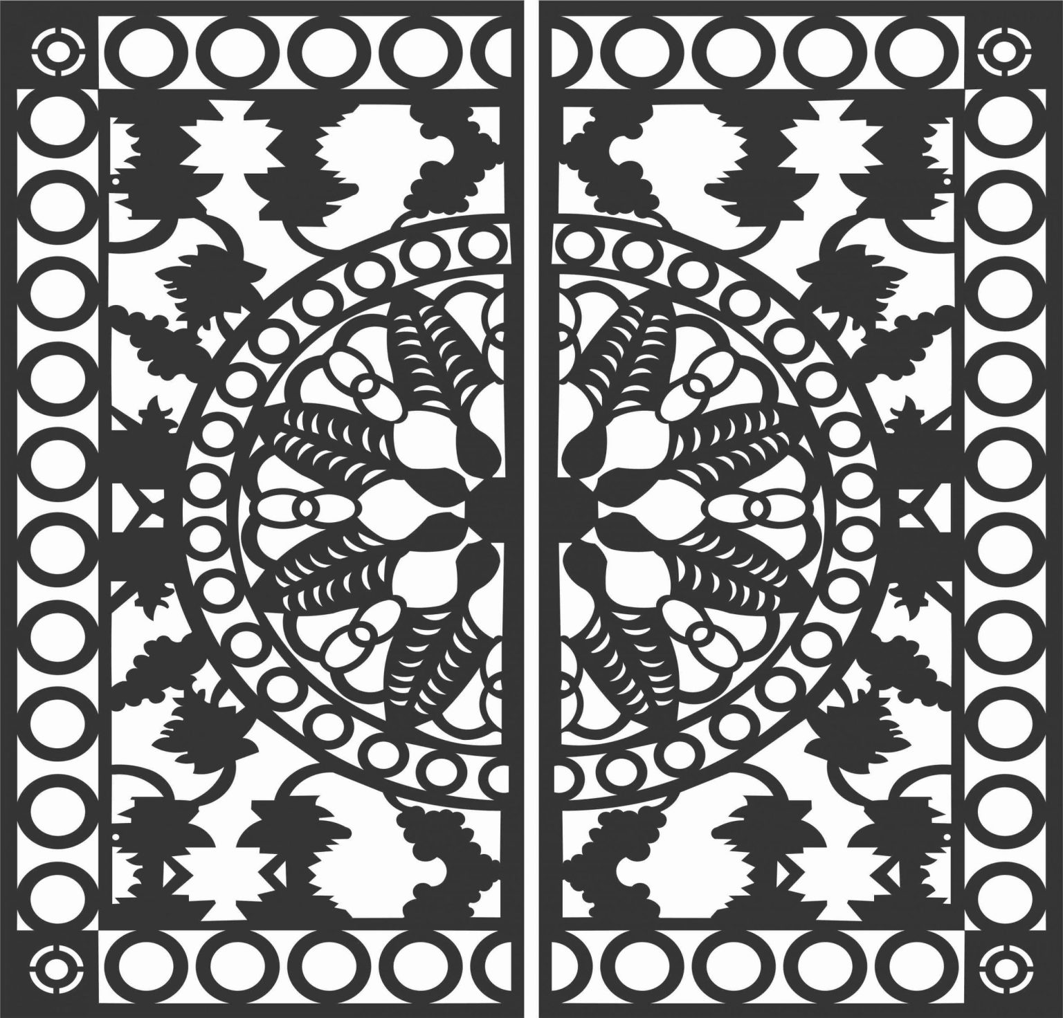 Screen Panel Patterns Seamless 94 Free DXF File