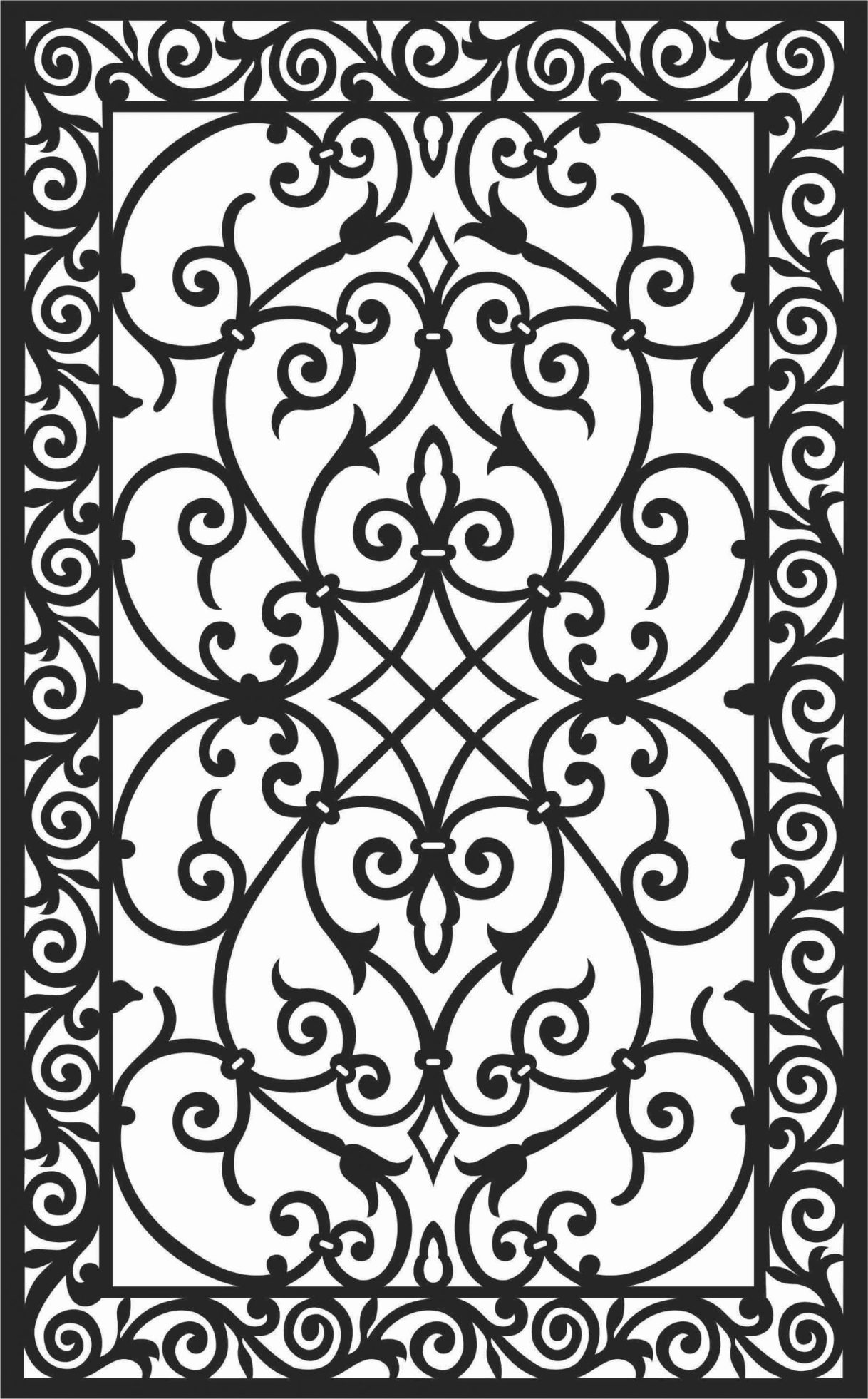 Screen Panel Patterns Seamless 100 Free DXF File