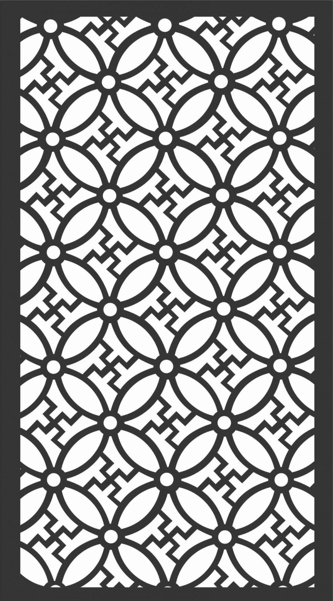 Screen Panel Patterns Seamless 102 Free DXF File