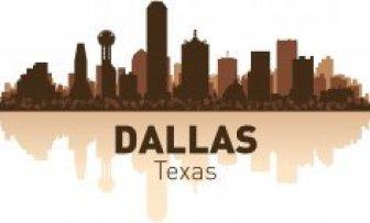 Dallas Skyline Free CDR Vectors Art