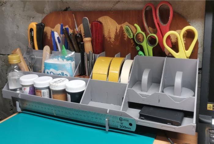 Laser Cut Home Office Desk Organizer Free DXF File