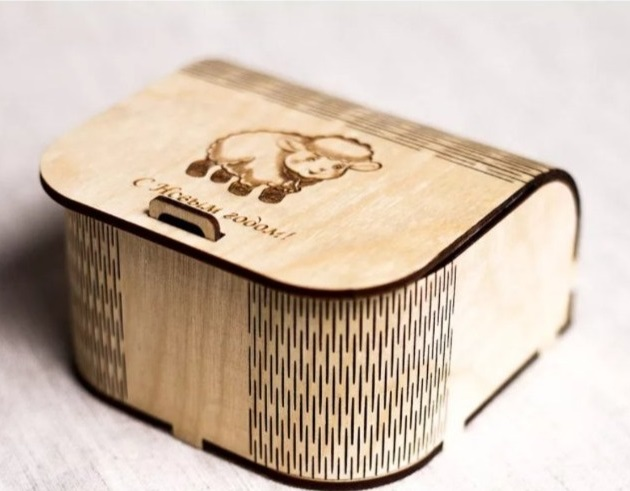 Laser Cut Small Gift Box Wooden Jewelry Box Free CDR Vectors Art
