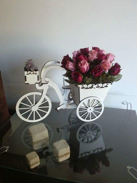 Laser Cut Wooden Cycle Flower Box Free CDR Vectors Art