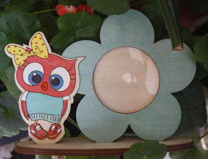 Laser Cut Owl Photo Frame Free CDR Vectors Art
