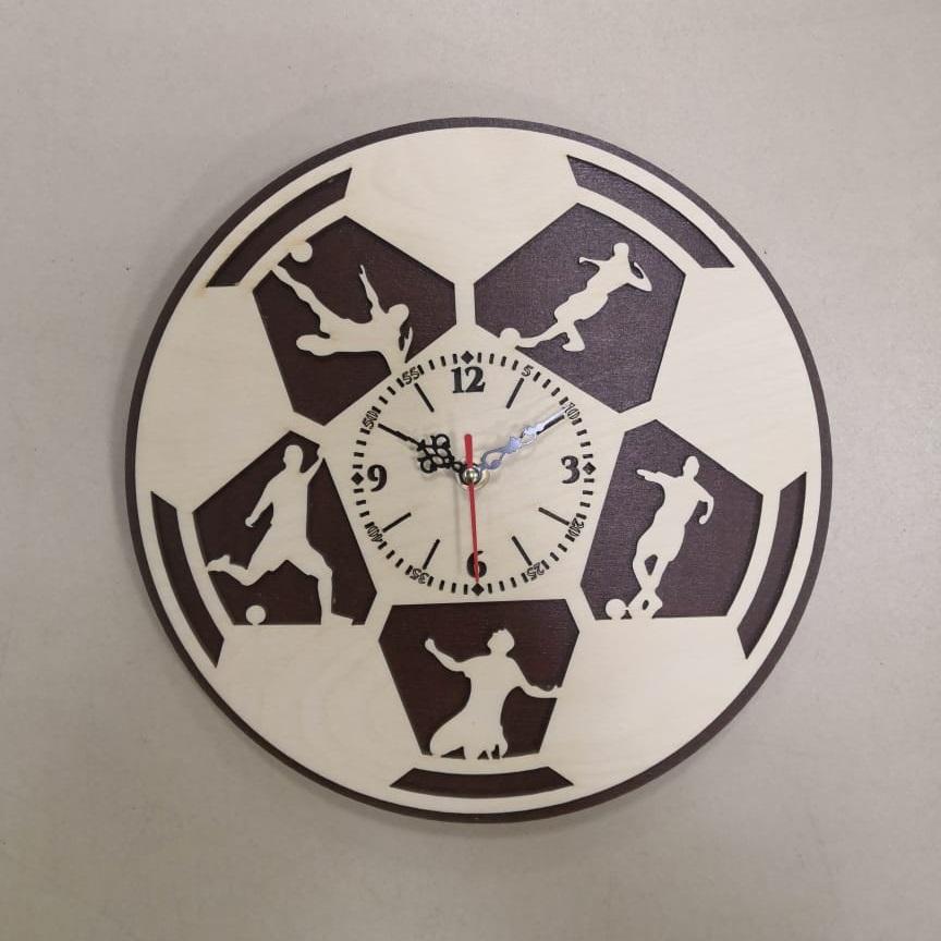 Football Wall Clock Gift For Soccer Lover Footballer Free CDR Vectors Art