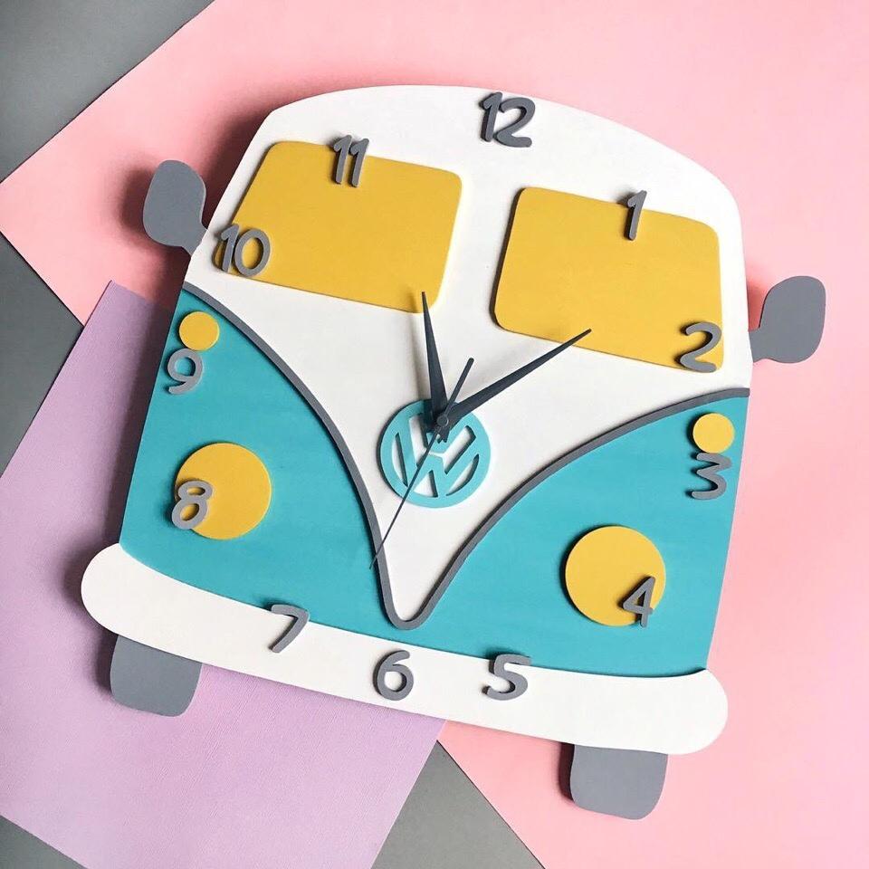 Laser Cut Volkswagen Clock Free CDR Vectors Art