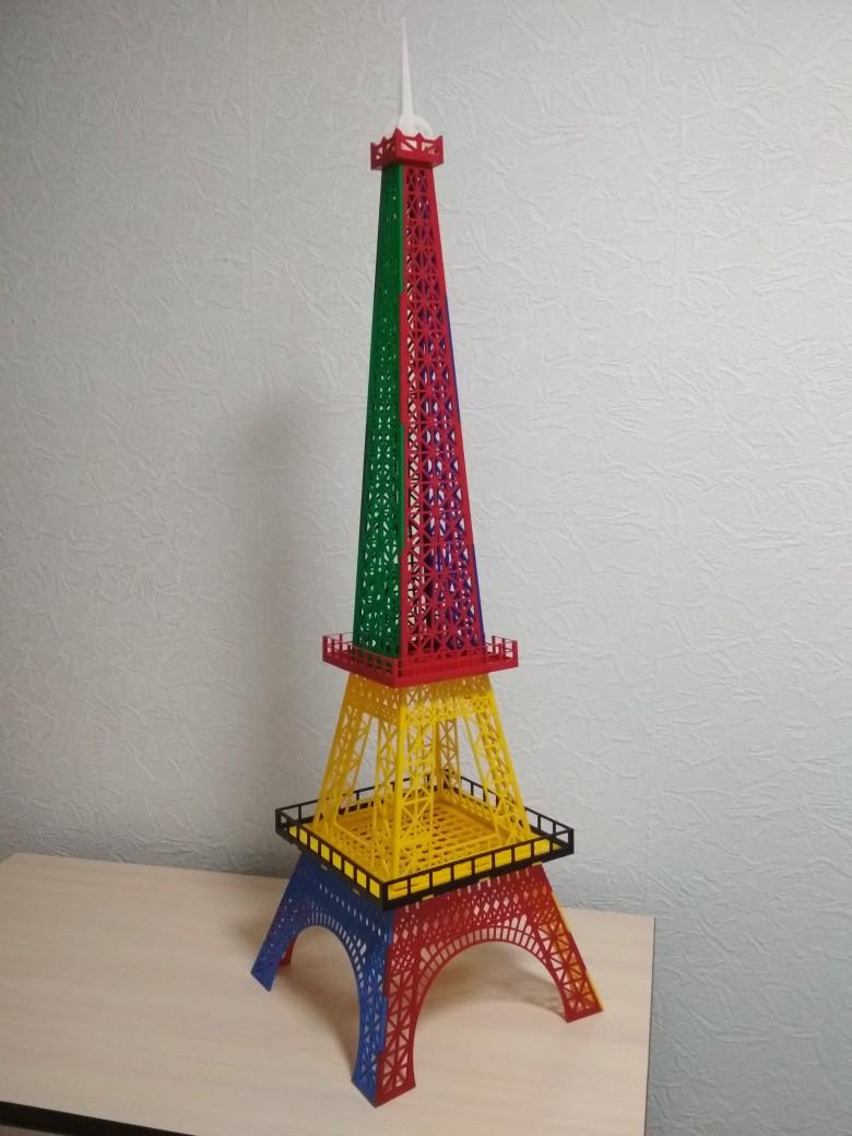 Eiffel Tower Acrylic Decoration 3mm Laser Cut Template Free CDR Vectors Art