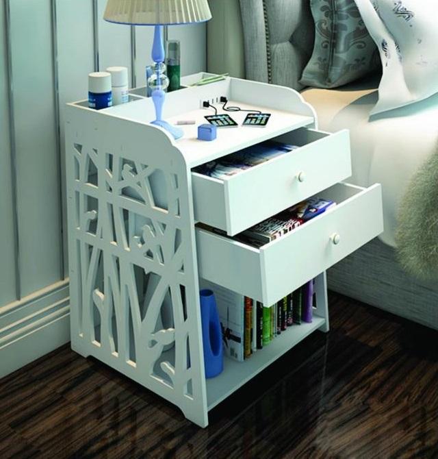 Laser Cut Bedside Table Shelf Storage Cabinet Free CDR Vectors Art