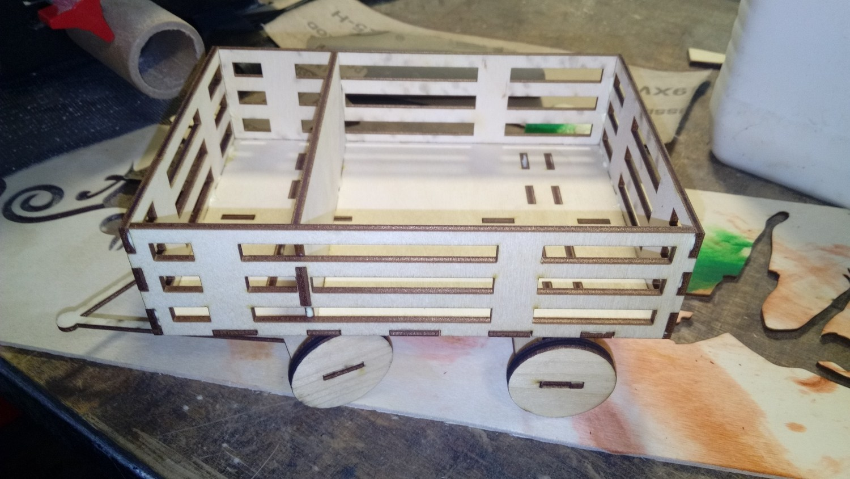 Laser Cut Cart Napkin Holder With Spice Rack Free CDR Vectors Art