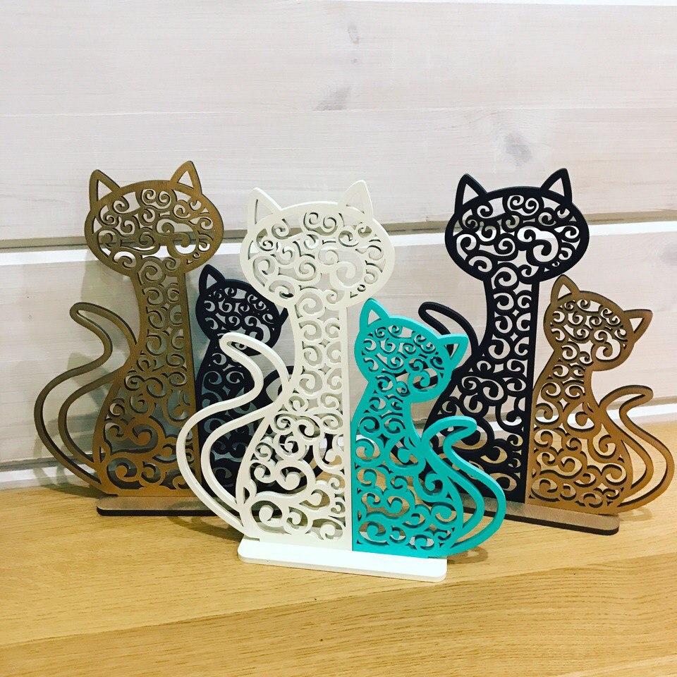 Laser Cut Cat And Kitten Night Light Lamp Home Decor Free CDR Vectors Art