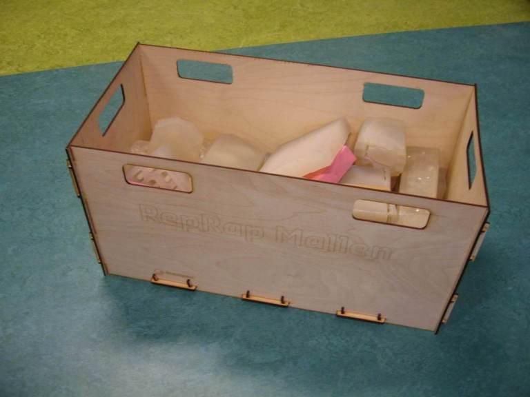 Laser Cut Crate 4mm Plywood Free CDR Vectors Art