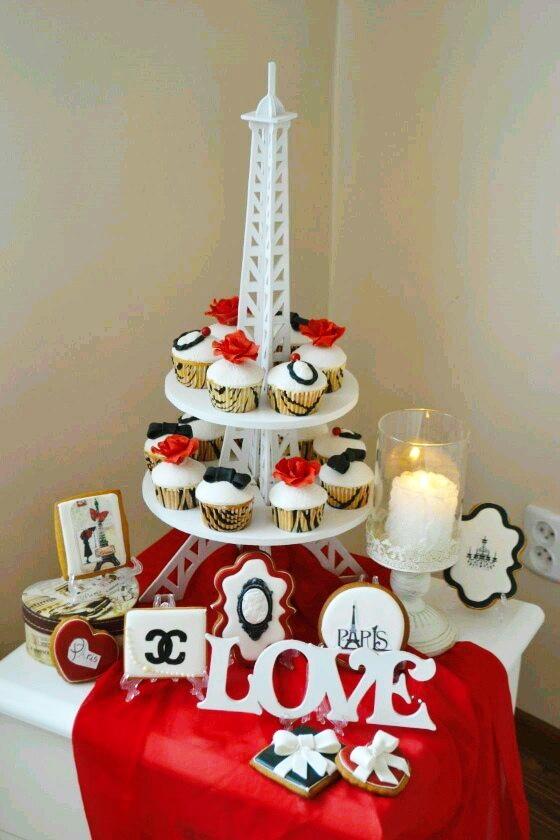 Laser Cut Eiffel Tower Cupcake Stand Free CDR Vectors Art