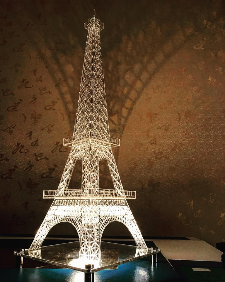 Laser Cut Eiffel Tower Template In 5 Sizes Free CDR Vectors Art