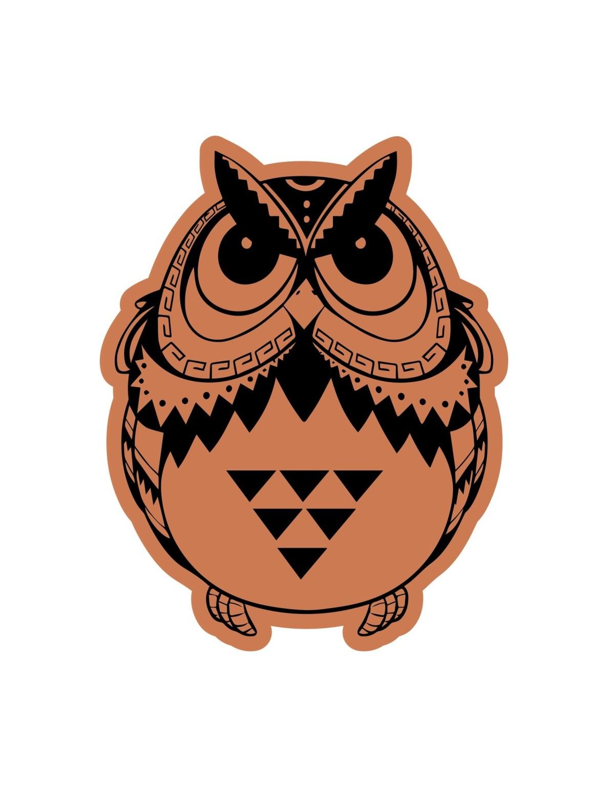 Owl Sitting Laser Cut Engraving Template Free CDR Vectors Art