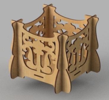 Laser Cut Wooden Carved Box Free CDR Vectors Art