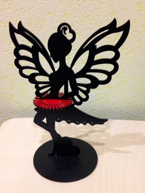 Laser Cut Fairy Napkin Holder Free CDR Vectors Art