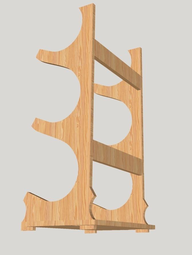 Wooden Wine Stand Wine Bottle Holder Wine Rack Free CDR Vectors Art