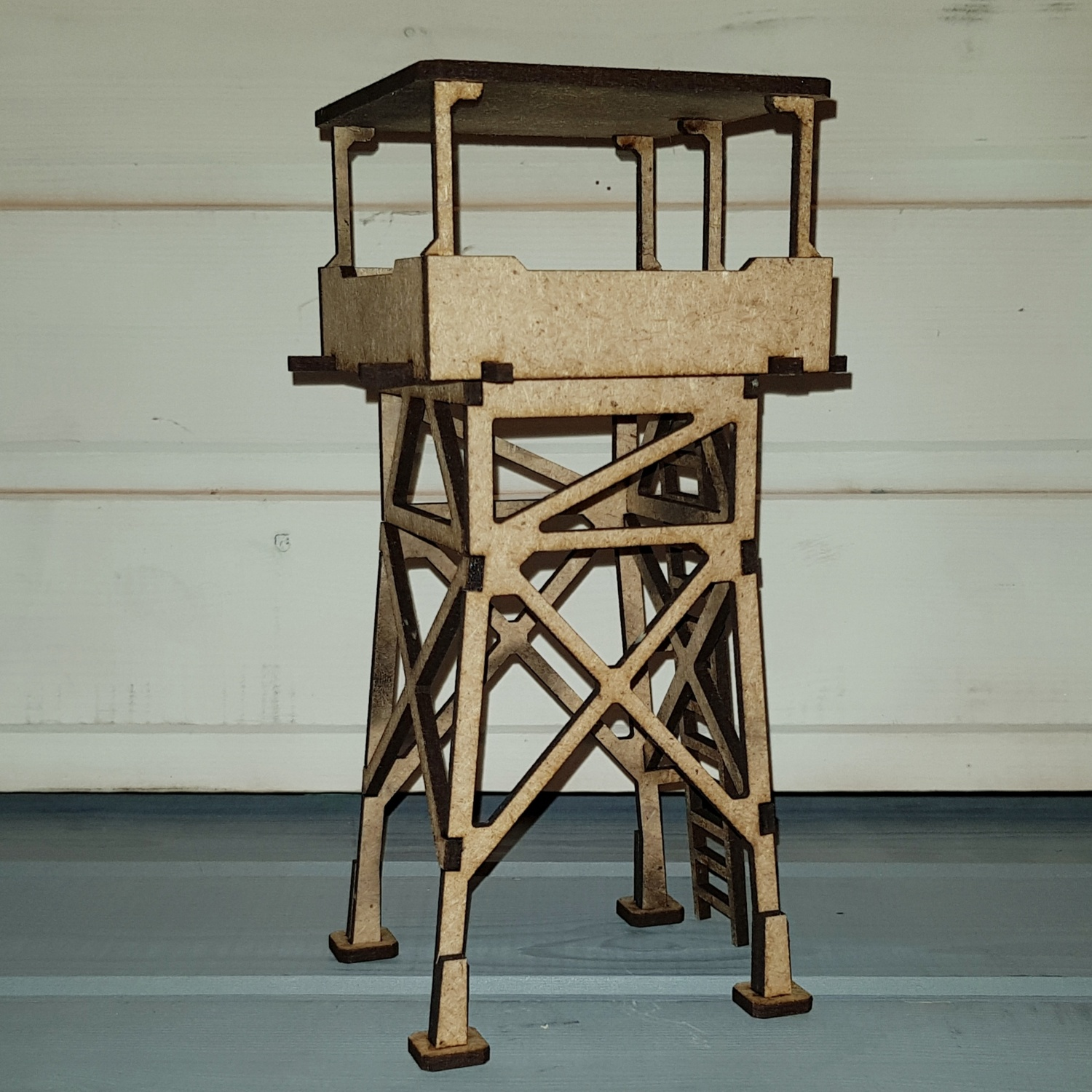 Laser Cut Wooden Guard Tower 3d Model Free DXF File
