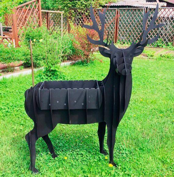 Metal Deer Barbeque Laser Cut Free DXF File