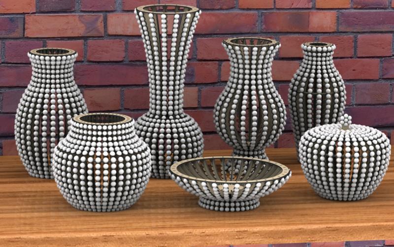 Vase Project Laser Cut Free DXF File