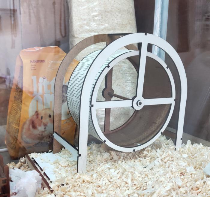 Laser Cut Hamster Wheel Free CDR Vectors Art