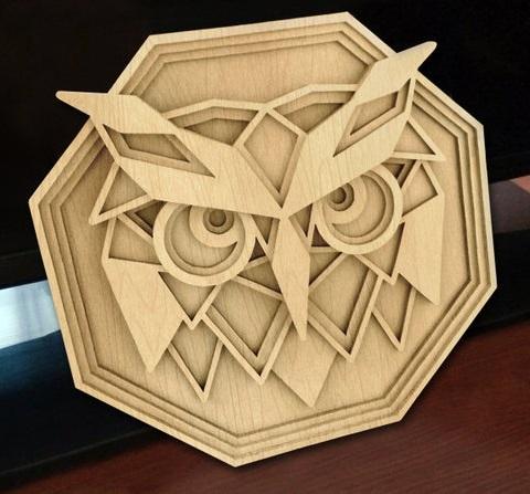 Laser Cut Layered Owl Wall Decor Free CDR Vectors Art
