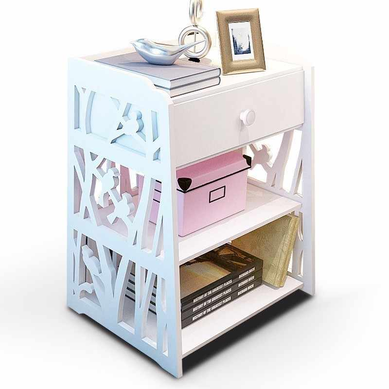 Laser Cut Shelf With Drawers Storage Cabinet Side Table Free CDR Vectors Art