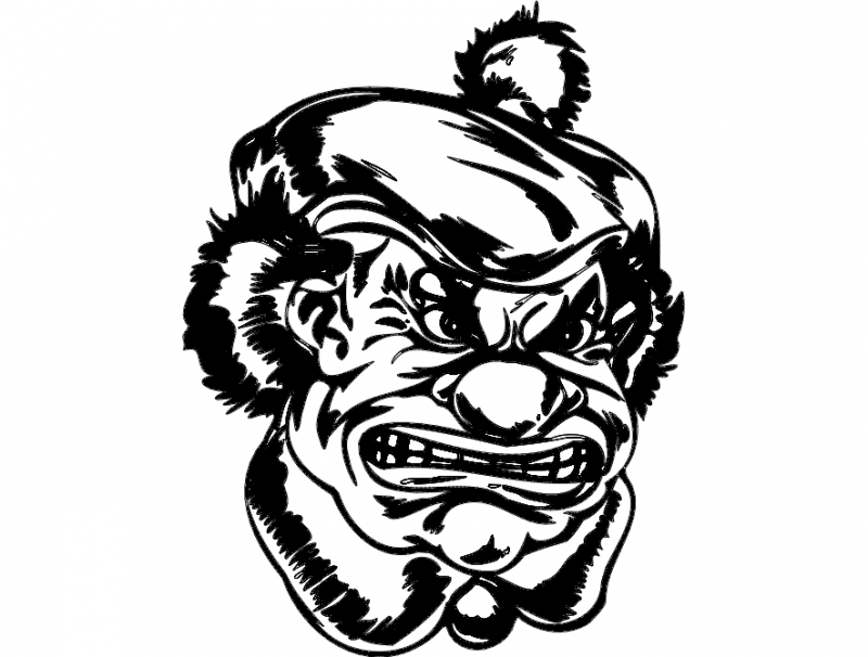 Moody Clown Free DXF File