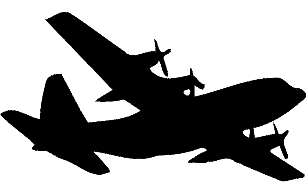 Military Aircraft c-130 Silhouette Free DXF File